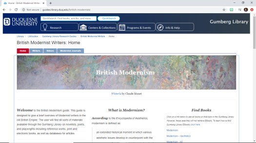 brit modernism guide
